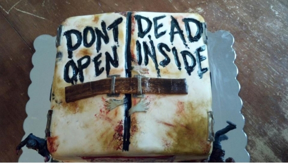 Zombie Themed Birthday Cake