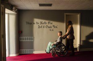 Lennie James as Morgan Jones, Melissa McBride as Carol Peletier- The Walking Dead _ Season 7, Episode 2 - Photo Credit: Gene Page/AMC