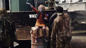 """Z NATION -- """"Duel"""" Episode 314 -- Pictured: Caitlin Carmichael as Lucy -- (Photo by: Go2 Z/Syfy)"""